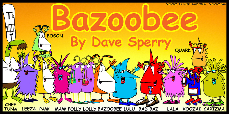 Bazoobee.com entrance webcomic splash page